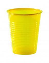 50 gele plastic bekers