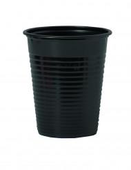 50 zwarte plastic bekers