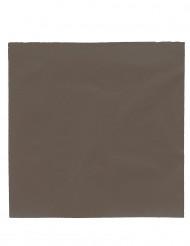 50 servetten chocolade bruin
