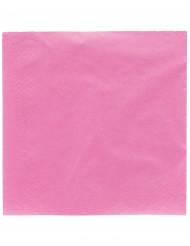 50 Fuchia roze servetten