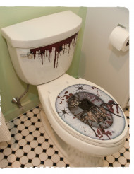 Halloween toilet stickers