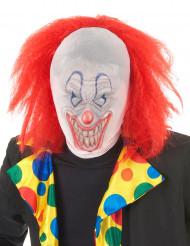 Clownsmasker met pruik voor volwassenen