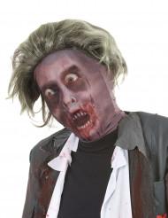 Zombie masker met pruik voor volwassenen