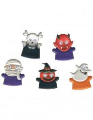 Halloween monstertjes vingerpoppen