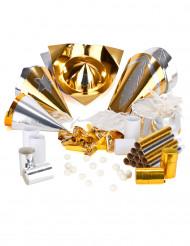 Feestartikelen set goud en zilver voor 10 personen