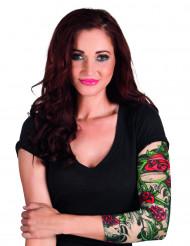 Roze tatoeage sleeve voor vrouwen