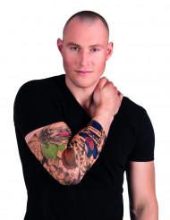 Clown tatoeage sleeve voor volwassenen