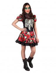 Dia de los Muertos skeletten kostuum voor dames