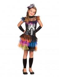 Kleurrijk skelet tutu kostuum voor meisjes