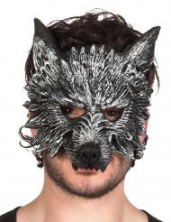 Half weerwolf masker van schuim voor volwassenen