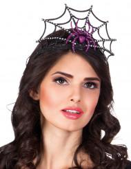 Paarse spinnen tiara voor vrouwen