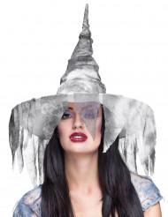 Gevallen witte heksenhoed voor vrouwen