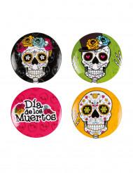 4 Día de los muertos buttons