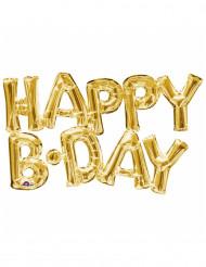 Goudkleurige Happy Birthday ballon