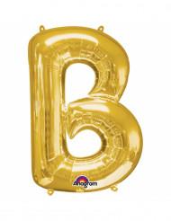Goudkleurige letter B ballon