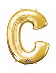 Goudkleurige letter C ballon