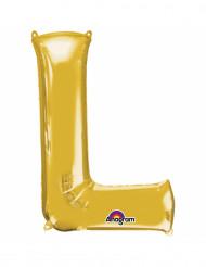 Goudkleurige letter L ballon
