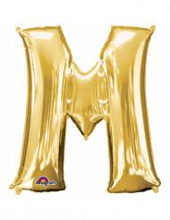 Goudkleurige letter M ballon