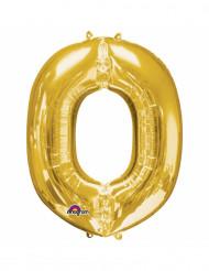 Goudkleurige letter O ballon
