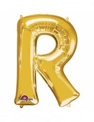 Goudkleurige letter R ballon
