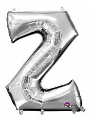 Zilverkleurige letter Z ballon