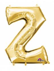 Goudkleurige letter Z ballon