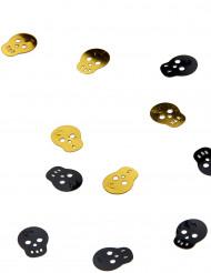 Doodskoppen tafel confetti