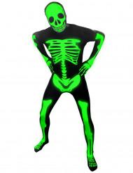 Fosforescerend skelet Morphsuits™ kostuum voor volwassenen