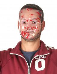 Wit bloederig Halloween masker