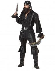 Zwart piratenkostuum voor mannen