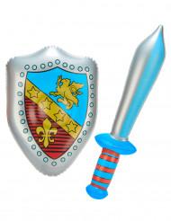 Opblaasbaar schild en zwaard