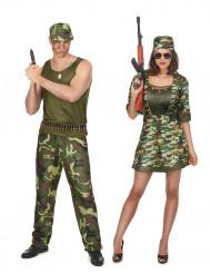 Militair koppelkostuum voor volwassenen