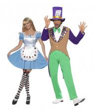 Gekke hoedenmaker en prinses wonderland koppelkostuum