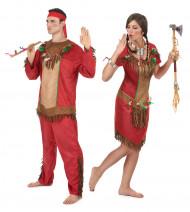 Rood indianen koppelkostuum voor volwassenen