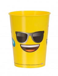 Gele plastic Emoji™ beker