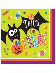 16 papieren Halloween servetten