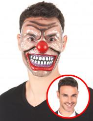 Doorschijnend Creepy Clown masker voor volwassenen