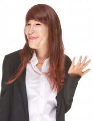 Carla latex masker met pruik voor volwassenen