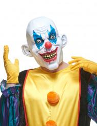 Latex diabolische clown masker voor volwassenen