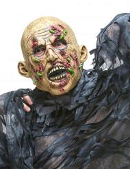 Rottende zombie met maden masker voor volwassenen