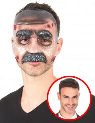 Doorzichtig masker met snor voor volwassenen