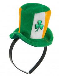 Mini Ierland hoed met klavertje voor volwassenen