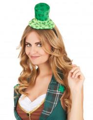 Mini hoed op haarband met klavertjes voor volwassenen