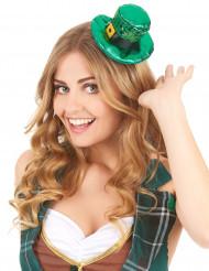 Saint Patrick mini hoed met lovertjes voor volwassenen