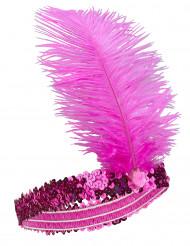 Fuchsia roze charleston hoofdband voor vrouwen