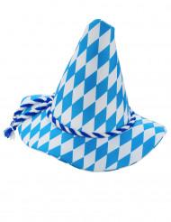 Blauw met wit Beierse hoed voor volwassenen