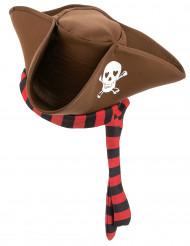 Bruine piratenhoed voor volwassenen