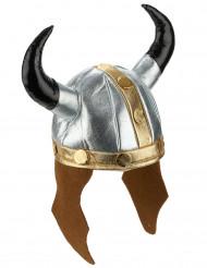 Metaalachtige viking helm voor volwassenen