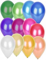 50 metallic gekleurde ballonnen mix