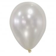 50 metallic ivoor witte ballonnen